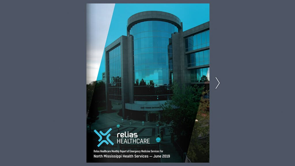 Example of Relias Healthcare Monthly Report
